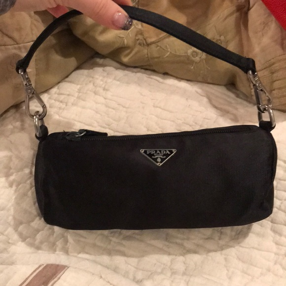 Bags   Black Satin Prada Evening Bag   Poshmark 924d773a82